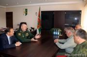 Делегация Минобороны РЮО принимает участие в праздновании юбилея абхазской армии