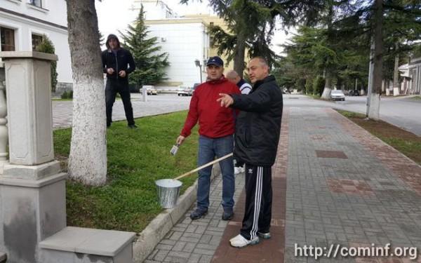 Сотрудники МВД Южной Осетии провели субботник