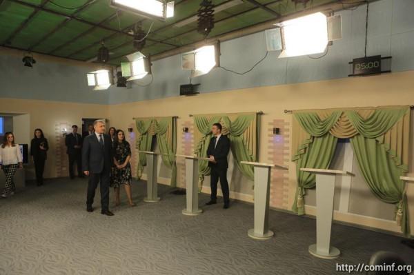 Анатолий Бибилов проверил готовность ГТРК «Ир» к предстоящим дебатам