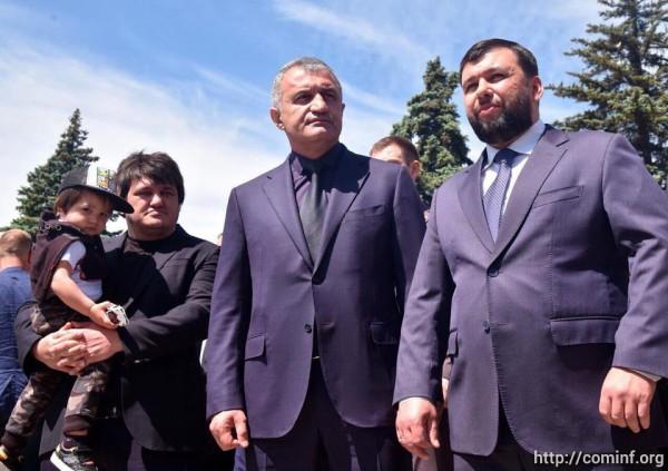 В Донецке открыли памятник «Мамаю». На мероприятие прибыл президент Южной Осетии