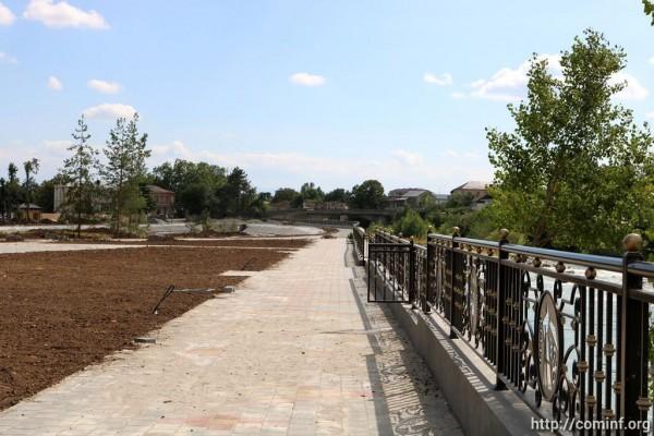 Благоустройство парка имени Валерия Хубулова в Цхинвале планируют завершить в сентябре